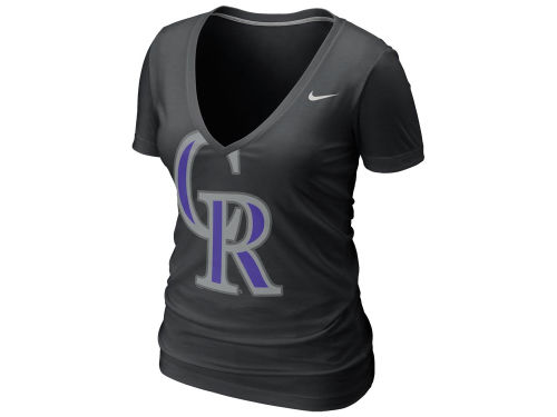 Colorado Rockies Nike Black Nike Mlb Women 39 S Deep V