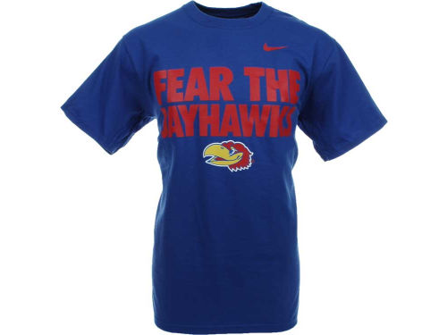 Ncaa fear the t shirt apparel and gear for Funny kansas jayhawks t shirts