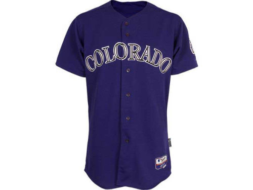 Colorado Rockies Purple Majestic Mlb Youth Blank Replica