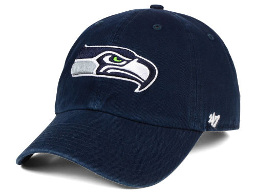 seattle seahawks 39 47 navy 39 47 nfl clean up cap. Black Bedroom Furniture Sets. Home Design Ideas