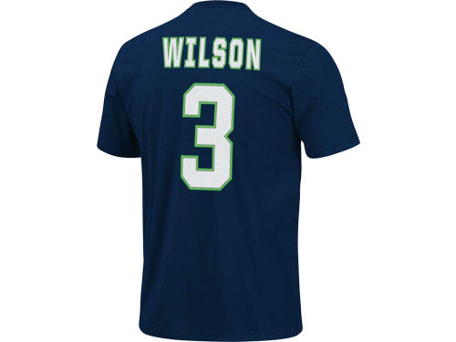 Seattle seahawks navy russell wilson vf licensed sports for Russell wilson womens t shirt