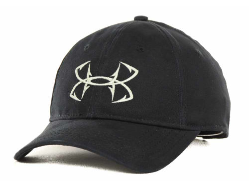 Under armour black fish hook cap for Under armour fish hook hat