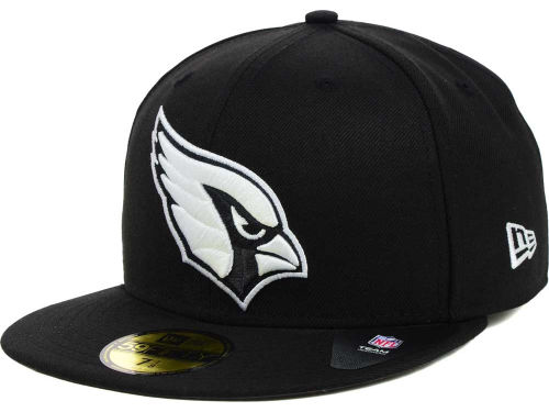 arizona cardinals new era nfl black and white 59fifty cap. Black Bedroom Furniture Sets. Home Design Ideas