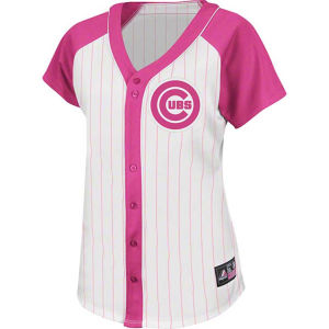 Buy mlb sports apparel - Chicago Cubs VF Licensed Sports Group MLB Womens Fashion Replica Pinstripe Jersey