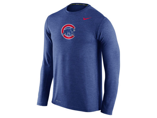 Chicago cubs nike royalblue nike mlb men 39 s dri fit touch for Under armour dri fit long sleeve shirts