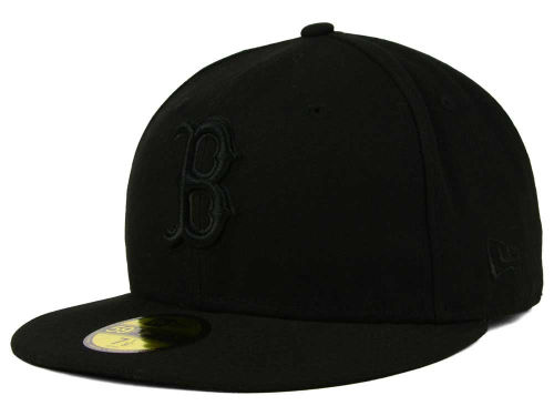 Boston Red Sox New Era MLB Black on Black Fashion 59FIFTY Cap Hats