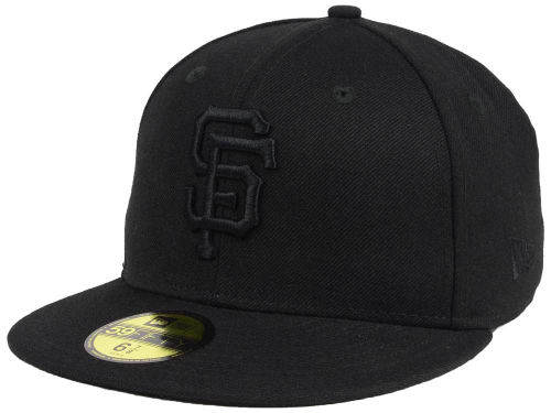San Francisco Giants New Era MLB Black on Black Fashion 59FIFTY Cap Hats