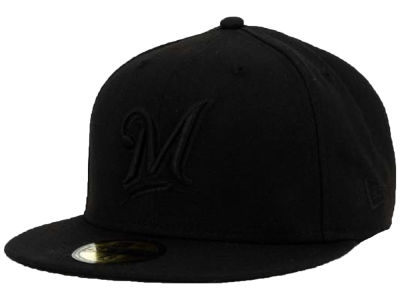 Milwaukee Brewers MLB Black on Black Fashion 59FIFTY Cap Hats