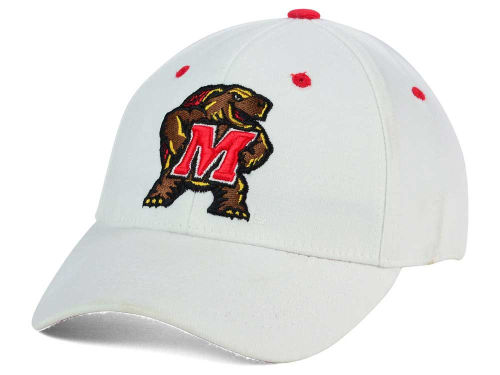 Maryland Terrapins Top of the World NCAA White PC Cap Hats