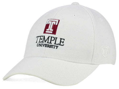 Temple Owls Top of the World NCAA White PC Cap Hats