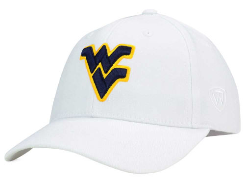 West Virginia Mountaineers Top of the World NCAA White PC Cap Hats