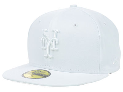 New York Mets MLB White on White Fashion 59FIFTY Cap Hats