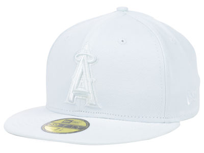 Los Angeles Angels MLB White on White Fashion 59FIFTY Cap Hats