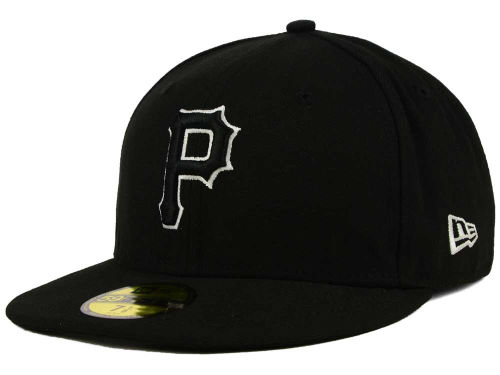 Pittsburgh Pirates New Era MLB Black and White Fashion 59FIFTY Cap Hats