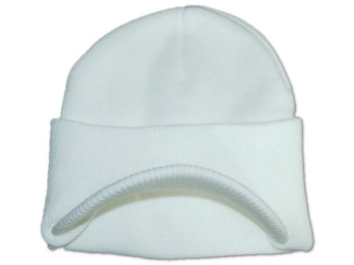 White Billed Knit  Hats