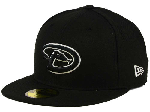 Arizona Diamondbacks New Era MLB Black and White Fashion 59FIFTY Cap Hats