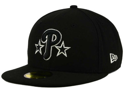 Philadelphia Phillies MLB Black and White Fashion 59FIFTY Cap Hats