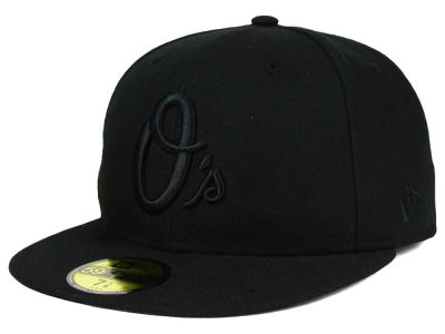 Baltimore Orioles MLB Black on Black Fashion 59FIFTY Cap Hats