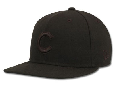 Chicago Cubs MLB Black on Black Fashion 59FIFTY Hats