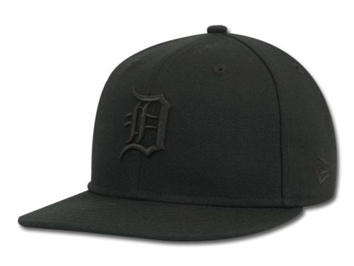 Detroit Tigers New Era MLB Black on Black Fashion 59FIFTY Hats