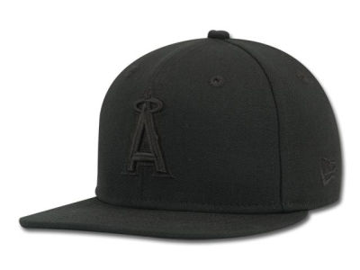 Los Angeles Angels of Anaheim MLB Black on Black Fashion 59FIFTY Hats