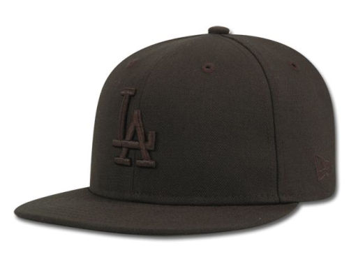 Los Angeles Dodgers New Era MLB Black on Black Fashion 59FIFTY Cap Hats