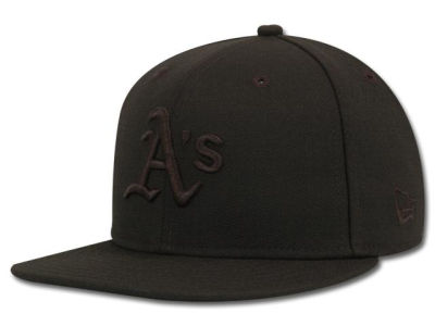 Oakland Athletics MLB Black on Black Fashion 59FIFTY Hats