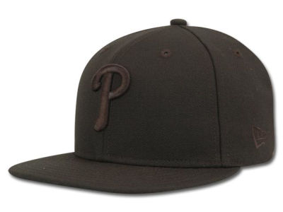 Philadelphia Phillies MLB Black on Black Fashion 59FIFTY Hats