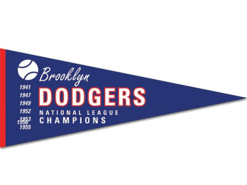 Los Angeles Dodgers Brooklyn Dodgers Cooperstown Pennant