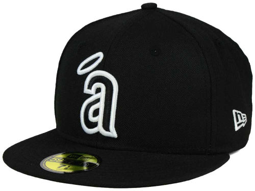 Los Angeles Angels of Anaheim New Era MLB Black and White Fashion 59FIFTY Cap Hats