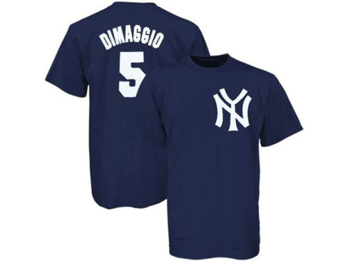 New York Yankees Joe DiMaggio Majestic MLB Cooperstown Player T-Shirt