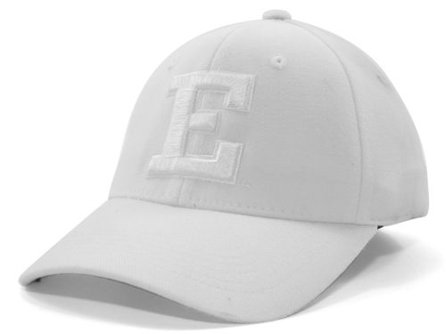 Eastern Michigan Eagles Top of the World NCAA White On White Tonal 59FIFTY Hats
