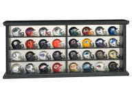 Riddell 32 Piece Micro Mini Set Wood Frame Collectibles