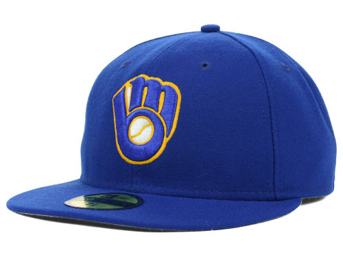 Milwaukee Brewers New Era MLB Authentic Collection 59FIFTY Cap Hats