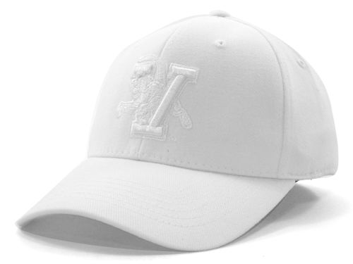 Vermont Catamounts Top of the World NCAA White On White Tonal 59FIFTY Hats