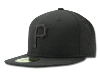 Pittsburgh Pirates MLB Black on Black Fashion 59FIFTY Hats