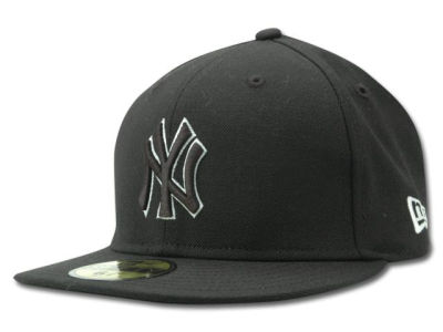 New York Yankees MLB Black and White Fashion 59FIFTY Hats