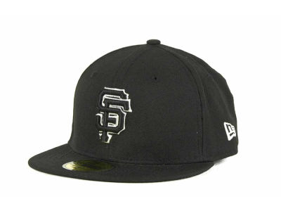 San Francisco Giants MLB Black and White Fashion 59FIFTY Cap Hats