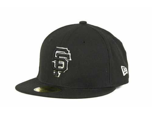 San Francisco Giants New Era MLB Black and White Fashion 59FIFTY Cap Hats