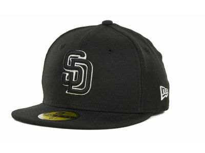 San Diego Padres MLB Black and White Fashion 59FIFTY Cap Hats