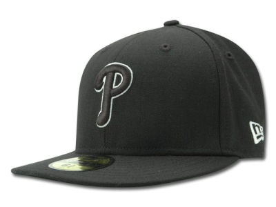 Philadelphia Phillies MLB Black and White Fashion 59FIFTY Hats
