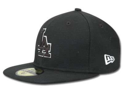 Los Angeles Dodgers MLB Black and White Fashion 59FIFTY Cap Hats