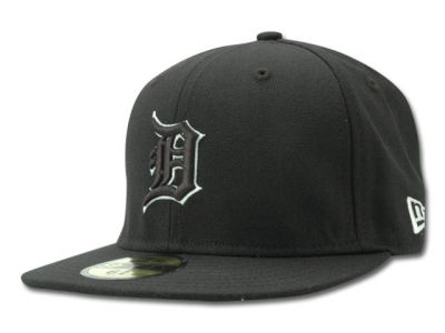 Detroit Tigers MLB Black and White Fashion 59FIFTY Hats