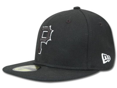 Pittsburgh Pirates MLB Black and White Fashion 59FIFTY Hats