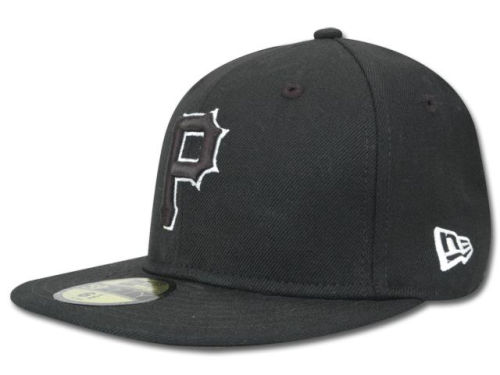 Pittsburgh Pirates New Era MLB Black and White Fashion 59FIFTY Hats