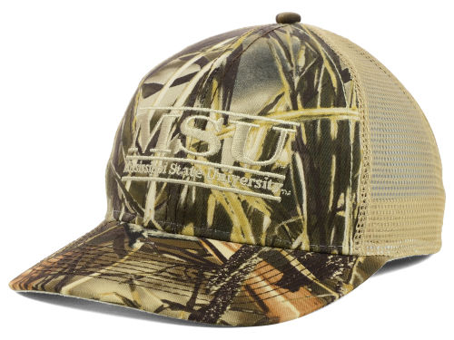 Mississippi State Bulldogs Camo Mesh Bar Hats