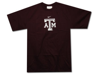Texas A&M Aggies Nike Team Sports NCAA Classic Logo Tee images, details and specs