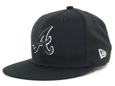 Atlanta Braves MLB Black and White Fashion 59FIFTY Cap Hats
