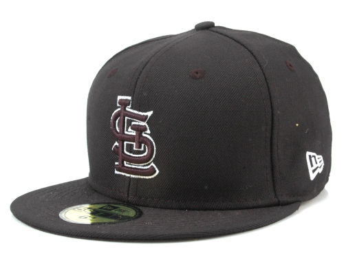 St. Louis Cardinals New Era MLB Black and White Fashion 59FIFTY Cap Hats