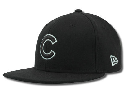 Chicago Cubs MLB Black and White Fashion 59FIFTY Hats